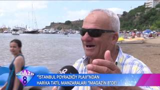 İstanbul Poyrazköy Plajından Harika Tatil Manzaralı