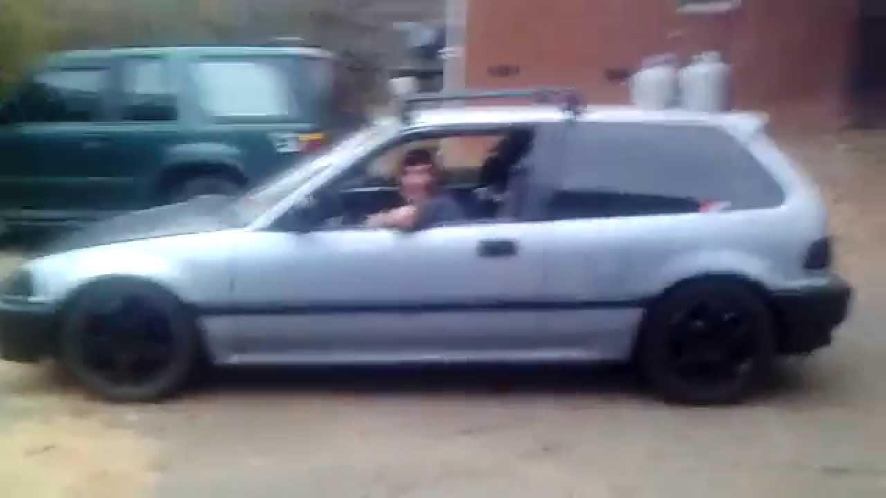 1990 Honda Civic hatchback blown motor - YouTube