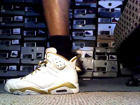 save off cb406 f793c Air Jordan 6 7 Golden Moment Pack GMP on feet