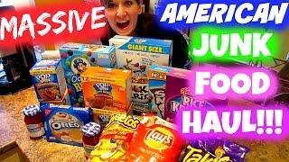 MASSIVE AMERICAN JUNK FOOD HAUL! Nicole Collet