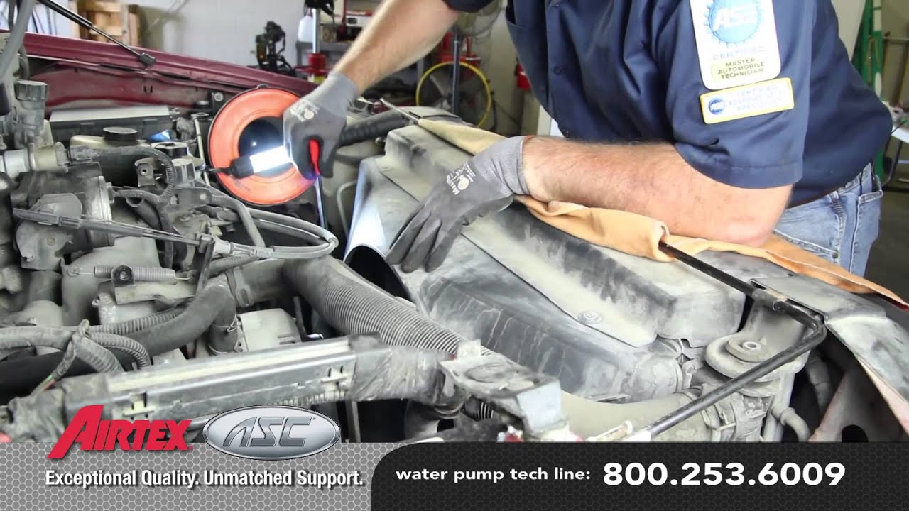 hight resolution of how to install a water pump 2002 97 ford f 150 4 6l 5 4l v8 wp 9097 aw4122