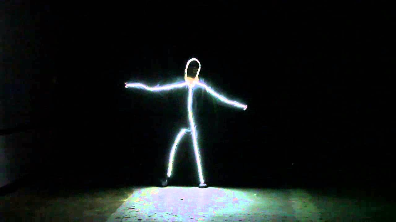 & Baby man LED light suit halloween costume - YouTube
