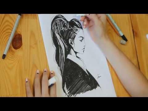 Как нарисовать эффектный портретный скетч? Видеоурок