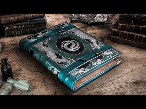 Making A LEATHERBOUND Air Mage Spellbook - The Tome Of Air