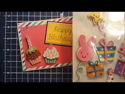 Birthday Card using 3D Dollar Tree stickers