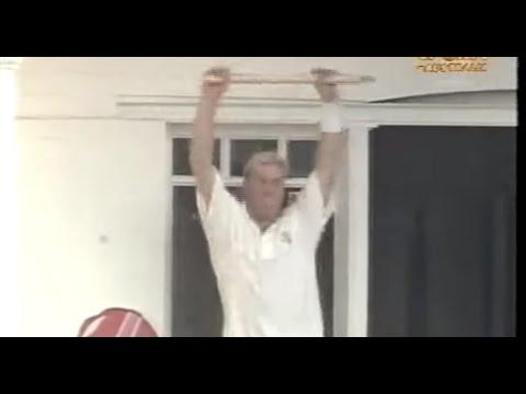 Embarrassng Shane Warne incident, stump dancing on the balcony