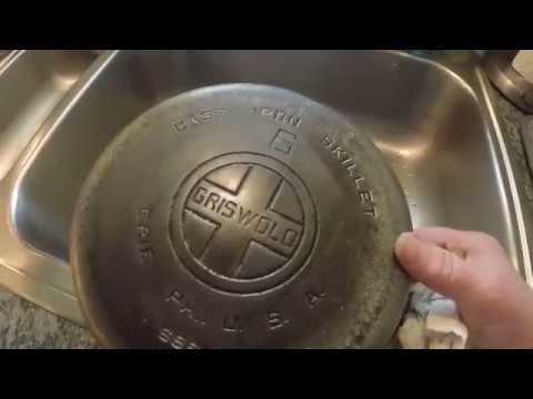 STOP - DON'T BUY PLATED CAST IRON SKILLETS - MUST WATCH - LYE BATH SET UP TOO!