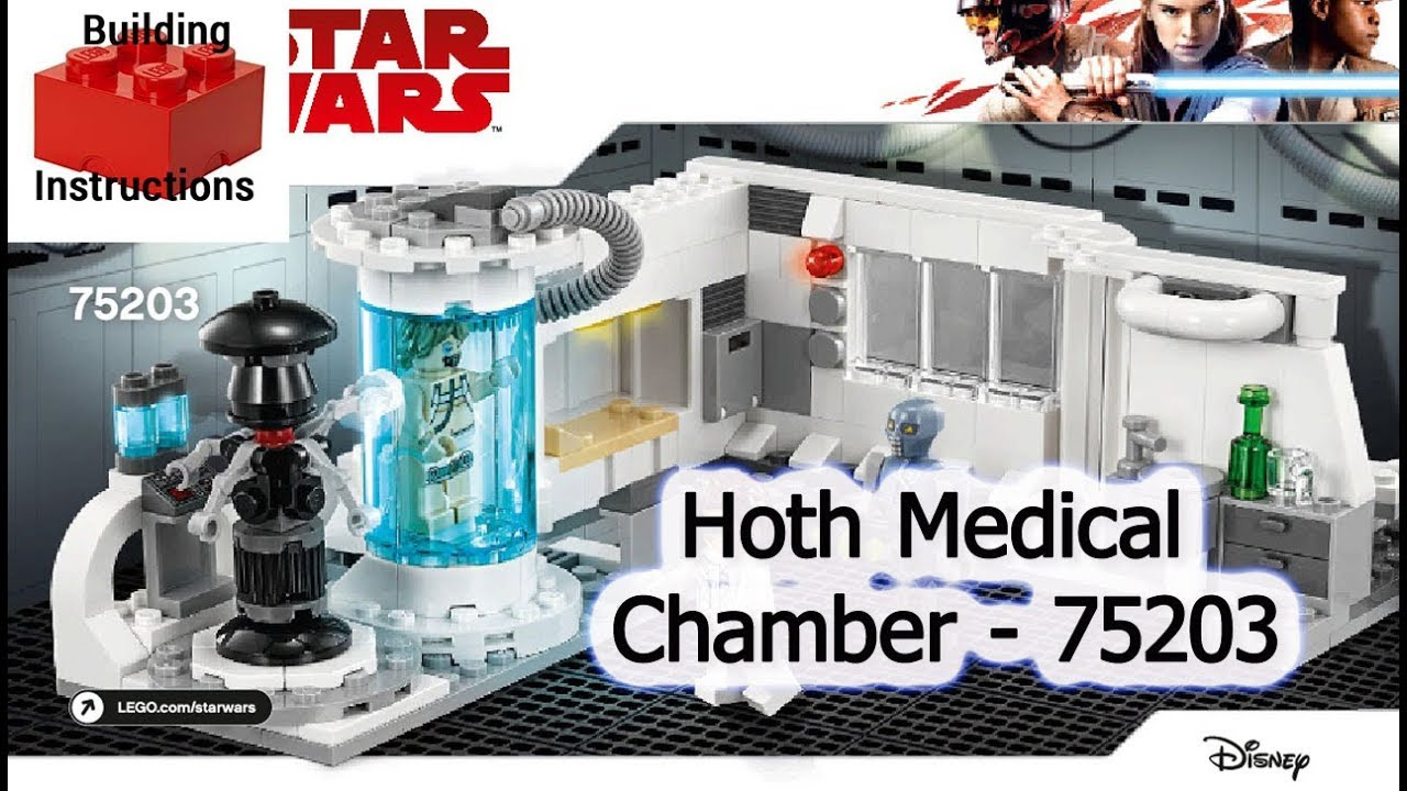 NEW LEGO STAR WARS LUKE SKYWALKER MINIFIG BACTA TANK 75203 Hoth Medical Chamber
