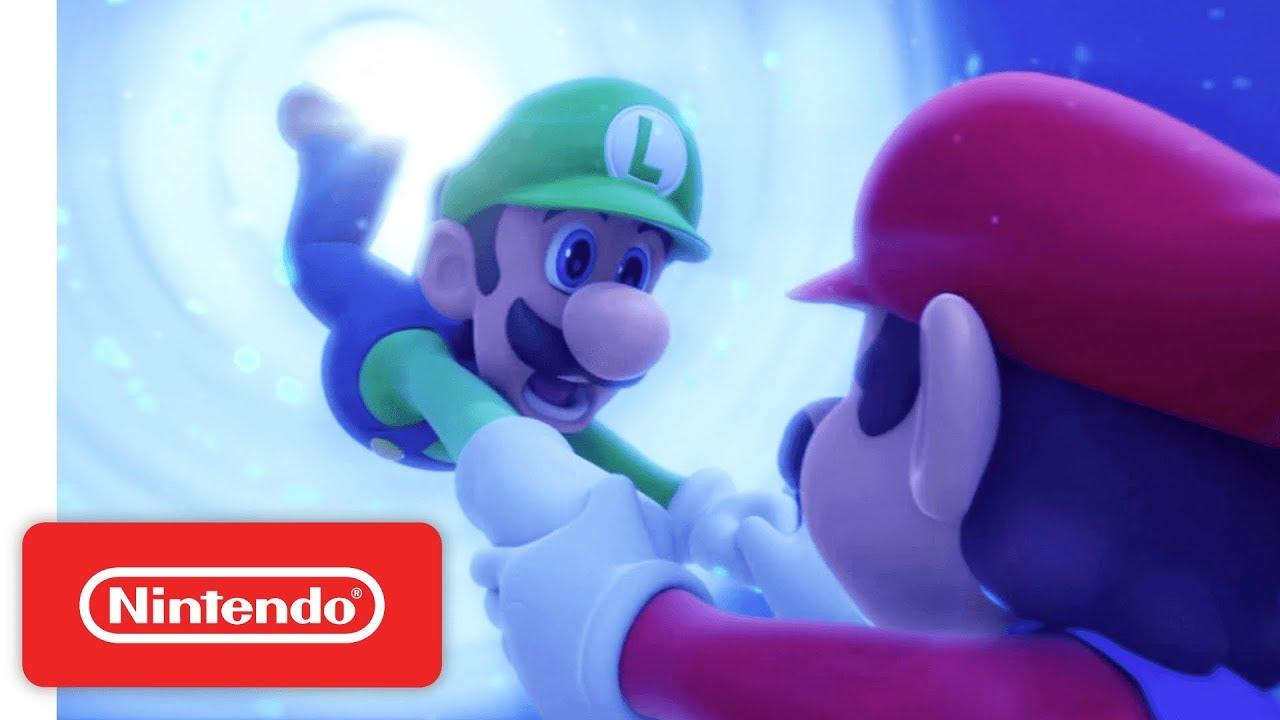 Mario rabbids kingdom battle launch trailer nintendo for Housse nintendo switch mario