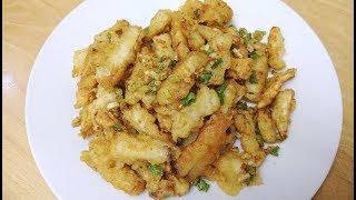 (Ingredients) 2 king oyster mushroom (230g) 3 salted egg yolk garli...