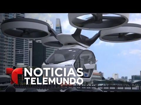 ¿Desea usted tomar un taxi que viaje por el aire? | Noticiero | Noticias Telemundo
