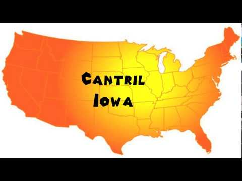 Cantril Iowa Map.How To Say Or Pronounce Usa Cities Cantril Iowa Youtube