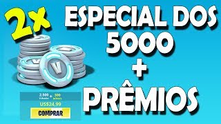 SPECIAL OF 5000 SUBSCRIBERS AND CONTEST TO WIN V-BUCKS-POPCORN FORTNITE