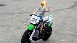 Justin Bieber as Ghost Rider MX400 bike