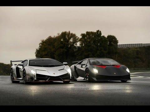 Lamborghini Veneno Vs Sesto Elemento Comparison Youtube