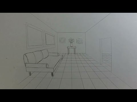 How to Draw a Room in 1-Point Perspective