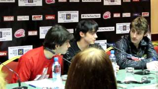 Lambiel Joubert Weir press conference for Kings on ice Moscow 31.03.2010 part 1 of 2.avi