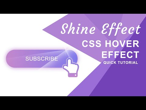 CSS Shine Effect Button on Hover (Linear Gradient Background) | Quick Tutorial thumbnail