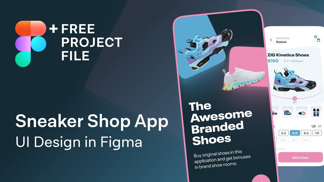 Online Sneakers Shop App UI Design in Figma | Web Design Speedart Tutorial + Free .fig Project