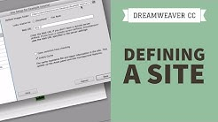 How to define a site - Dreamweaver CC tutorial [1/34]