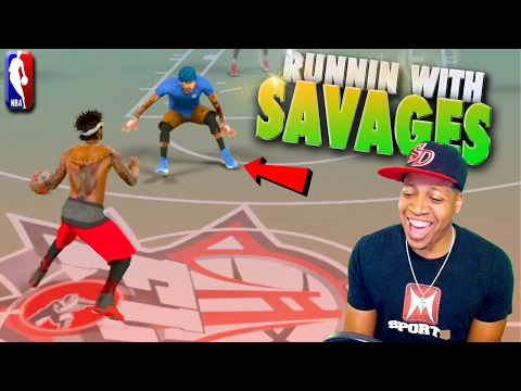 RUNNING With SAVAGES - NBA 2K17 MyPark 3v3 R2S