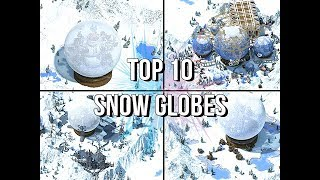 TOP 10 Minecraft Snow Globe Build Contest FINALISTS!