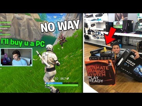 IF YOU WIN, I will buy you a $2,000 GAMING PC.. (Fortnite Challenge)