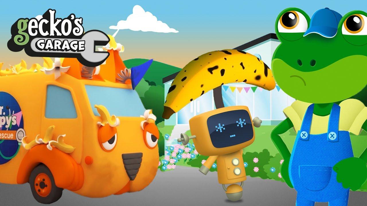 Animal Ambulance - Monkeys Go Bananas|Gecko's Garage|Learning For Toddlers|Trucks & Animals For Kids