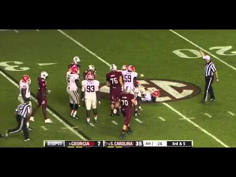 Shawn Williams vs South Carolina & Ole Miss (2012)