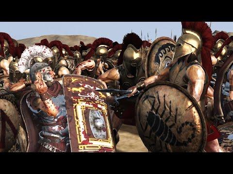 7000 ROMAN VS 7000 SPARTA - MASSIVE BATTLE TOTAL WAR ROME 2