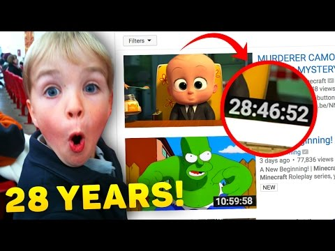 TOP 10 LONGEST YOUTUBE VIDEO on YouTube! (I Bet You Can't Watch Them)