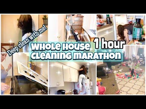 Extreme Deep Cleaning || Messy House Transformation || Whole House Cleaning Marathon
