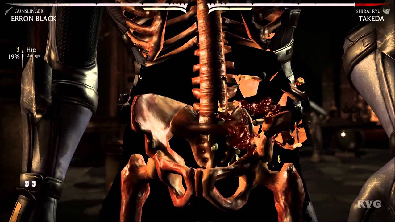 Erron Black Mortal Kombat X Gameplay Hd X Ray Youtube