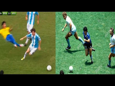 Los mejores 5 goles de Messi y Maradona en la seleccion argentina