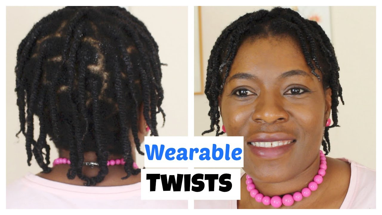 Wearable Two Strand Twist On Natural Hair Ii Short Hair