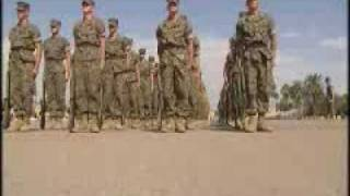 USMC Recruits Close Order Drill