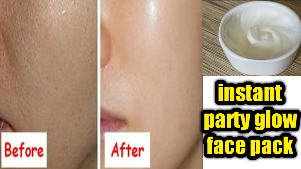 get instant glowing and fair skin / party glow face pack