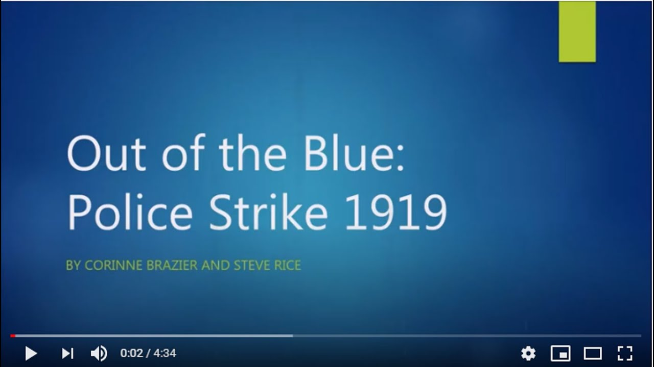 Remembering the police strike of 1919