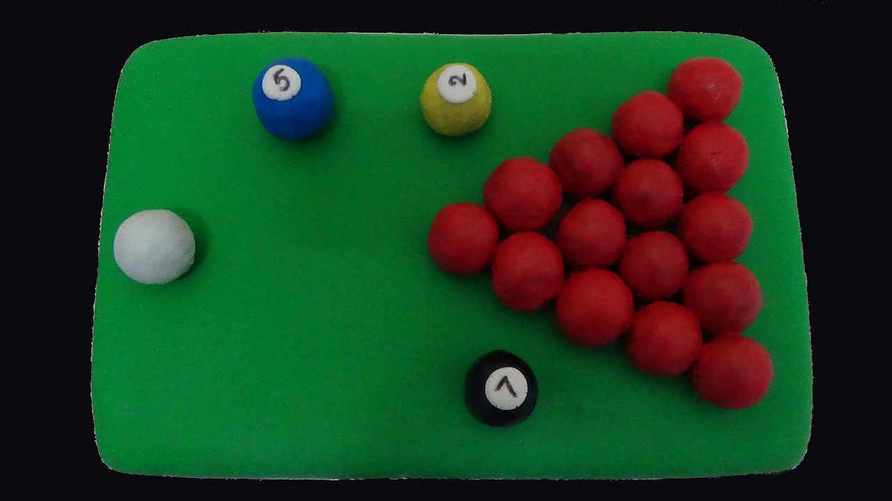 How To Make A Snooker Table Birthday Cake