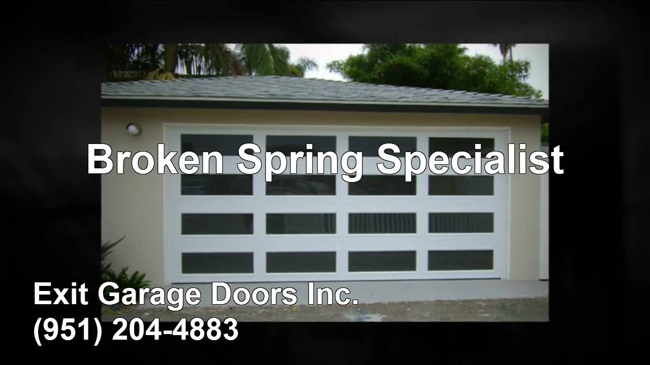 Exit Garage Doors Inc 951 204 4883 Youtube
