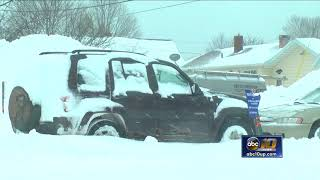 Record snow causes rough conditions