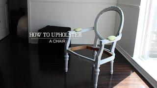 How to upholster a chair | Beginner Level
