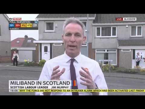 Jim Murphy, Scottish Labour leader speaks to Sky News Tonight