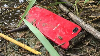 Found oppo phone in the mud restoration broken phone restore abandoned phone