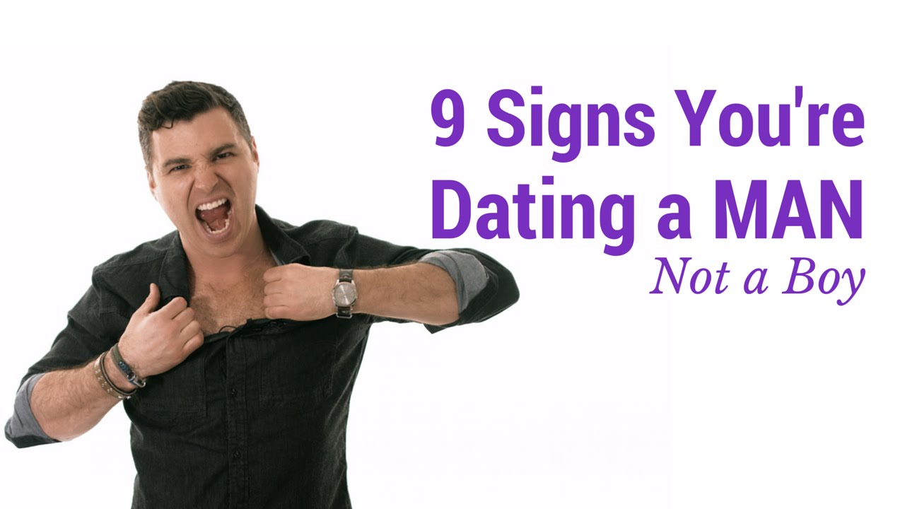 7 signs you are hookup an immature man