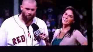 Jonny Gomes Jenny Dell that looks cold