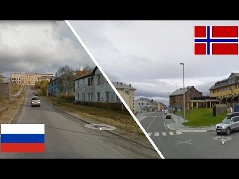 Россия и Норвегия - сравнение. Russia - Norway. Kongeriket Norge - Russland. Tromsø - Мурманск.