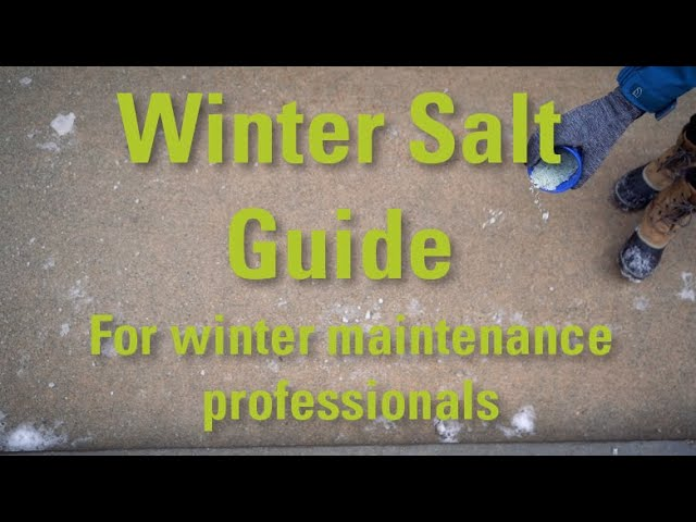 Winter Salting Guide for maintenance professionals