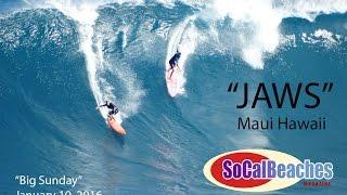 "Surfing ""Jaws"" Surf Break Maui Hawaii January 10, 2016 Part 1"
