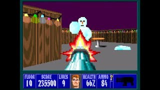 Wolfenstein 3D - Xmas Wolf Mod 100% - Floor 10 (Secret) [MS-DOS]